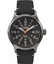 Timex TW4B01900 Мужская аналоговый экспедиции повышенной черный кожаный ремешок смотреть