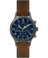 Timex TW4B09000 Мужские экспедиции коричневый кожаный ремешок смотреть
