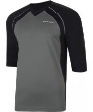 Dare2b Мужчины набрали в smokey черную майку футболку