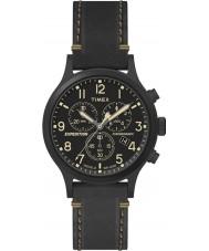 Timex TW4B09100 Мужские экспедиции черный кожаный ремешок смотреть