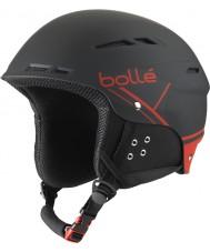 Bolle 31211 B-весело мягкий черный и красный лыжный шлем - 54-58cm