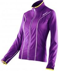 2XU WR2161A-PLQ-EYW-XS Дамы элитный фиолетовый лак и первенствовать желтый пиджак Run - хз размер
