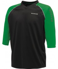 Dare2b Мужчины набрали в черно-зеленой футболке трикотажа