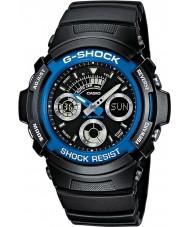 Casio AW-591-2AER Мужские G-SHOCK черный хронограф спортивные часы