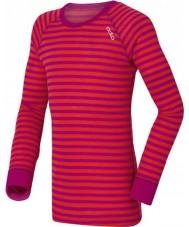 Odlo 10459-70244-104 Дети шеи экипажа фиолетово-розовый термобелье верх - 3-4 года (104 см)