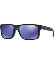 Oakley Oo9102-26 Холбрук Julian Вильсон матовый черный - фиолетовый иридия очки