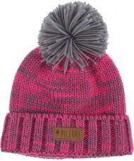 Picture B122P3 Дамы эля неоновый розовый вереск серый шапочку