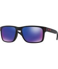 Oakley Oo9102-36 Холбрук матовый черный - красный солнцезащитные очки иридия