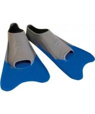 Zoggs 300395 Ультра синий и серый обучение плавники - ик размер 12