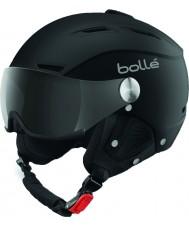Bolle 31253 Баклайн козырька мягкий черный и серебристый лыжный шлем с серым козырьком - 59-61cm