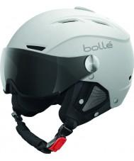 Bolle 31255 Баклайн козырька мягкий белый и серебристый лыжный шлем с серым козырьком - 56-58cm