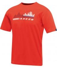 Dare2b Мужская городская сцена огненно-красная футболка