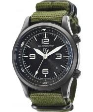 Elliot Brown 202-004-N01 Мужские Canford зеленый ремешок из ткани часы