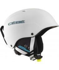 Cebe CBH174 Конкурс матовый белый синий лыжный шлем - 62-64cm