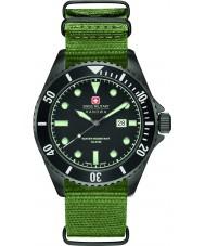 Swiss Military 6-4279-13-007 Мужской морской лев зеленый нейлон ремешок смотреть