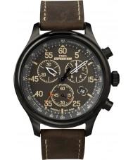 Timex T49905 Mens черный коричневый полевой экспедиции часы-хронограф