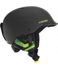 Cebe CBH99 Конкурс козырька матовый черный и зеленый лыжный шлем - 55-58cm