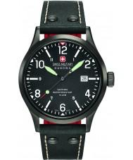 Swiss Military 6-4280-13-007-07 Mens тайную ремешок часы черный кожаный