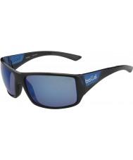 Bolle Тигровая змея блестящей черной матовой синей поляризованными морских синих солнцезащитных очков