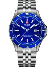 Swiss Military 6-5161-2-04-003 Мужские флагманом серебряный стальной браслет часы