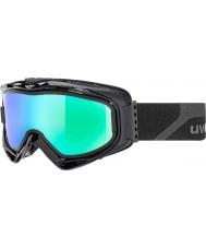 Uvex 5502132126 G.gl 300 взлетать матовый черный - зеленый зеркало лыжные очки с дымом голубой замены объектива