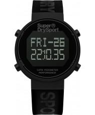 Superdry SYG203BB Мужские Digi шагомер черный силиконовый ремешок часы