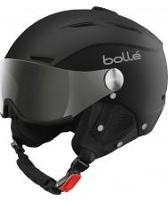 Bolle 31156 Баклайн козырька мягкий черный и серебристый лыжный шлем с серебряной пушки и лимонным козырьком - 59-61cm