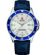 Swiss Military 6-4161-2-04-001-03 Мужские флагманом синий кожаный ремешок часы