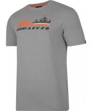 Dare2b DMT145-81I90-XXL Mens город сцены пепел серый мергель футболка - размер XXL