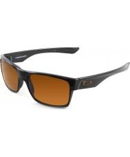 Oakley Oo9189-03 TwoFace полированная черная - темные бронзовые солнечные очки