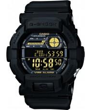 Casio GD-350-1BER Мужские г-шок мировое время черные часы