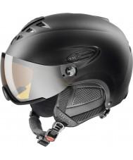 Uvex 5661622205 Hlmt 300 черный лыжный шлем с забралом lasergold - 55-58cm