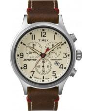 Timex TW4B04300 Мужские экспедиции разведчик коричневый кожаный хронограф