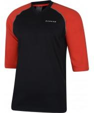 Dare2b Мужчины набрали в черной огненно-красной майке футболку