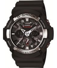 Casio GA-200-1AER Мужские г-шок мировое время черный хронограф